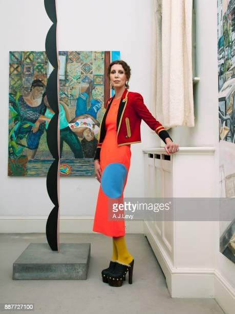 Art collector Valeria Napoleone is photographed for ES magazine on July 21 2017 in London England