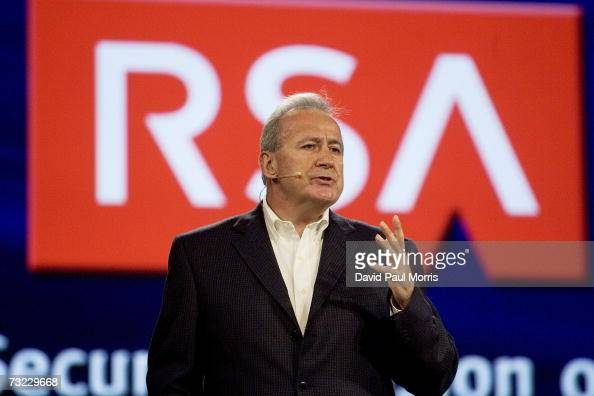 Art Coviello Executive Vice President EMC Corporation and President RSA the Security Division of EMC speaks at the RSA conference at the Moscone...