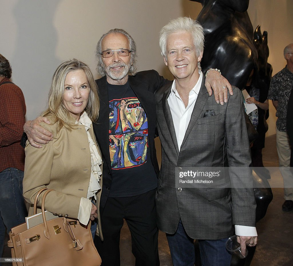 Art Critic Hunter Drohojowska-Philp, Musician David Philp and Musician-Artist Herb Alpert attend the Herb Alpert Exhibition of Paintings and Sculpture at Bergamot Station on May 4, 2013 in Santa Monica, California.