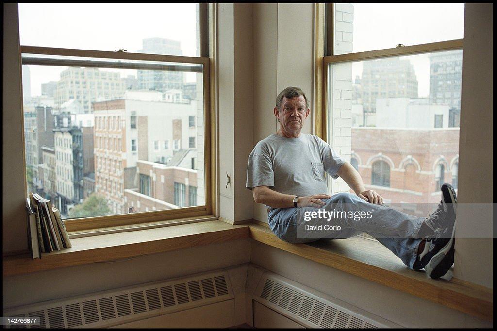Art critic Robert Hughes at his Prince Street loft New York City 27th October 1996