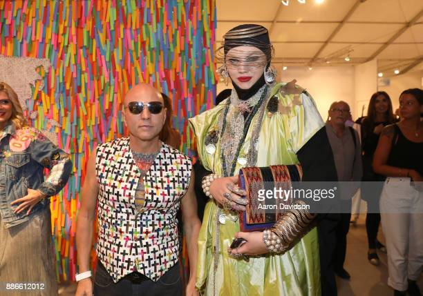 Art Dealer Poet Jimmy D Robinson and Daniel Lismore attend Art Miami VIP Kickoff at Art Miami Pavilion on December 5 2017 in Miami Florida