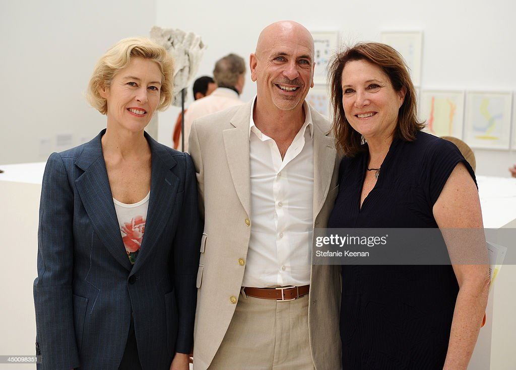Art dealer Tracy Williams, Scott Stover and curator/art writer Deborah Irmas attend a private preview at Museo Jumex on November 16, 2013 in Mexico City, Mexico.