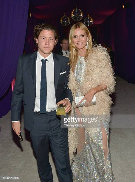 Art dealer Vito Schnabel and model Heidi Klum attend Neuro at the 23rd Annual Elton John AIDS Foundation Academy Awards Viewing Party on February 22...