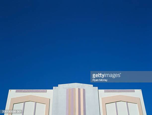 Art Deco building, low angle view