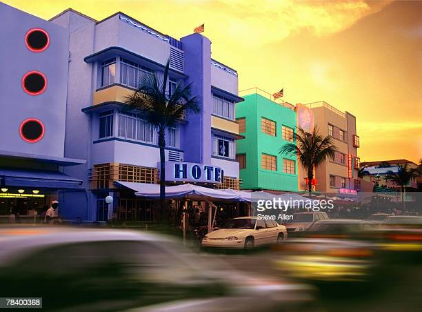 Art deco buildings in Miami Beach