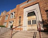 Art Deco School Entrance in Chicago