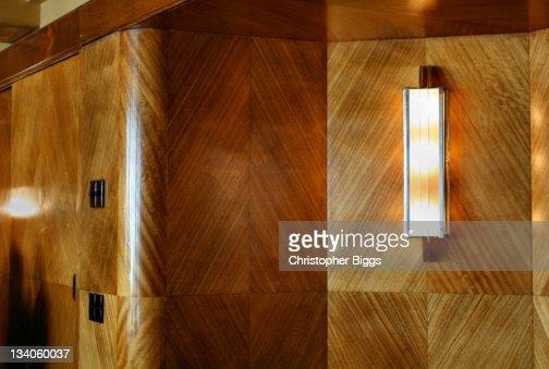 Art deco style decoration in board room