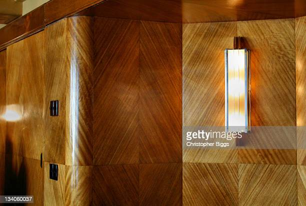 Art deco style decoration in board room