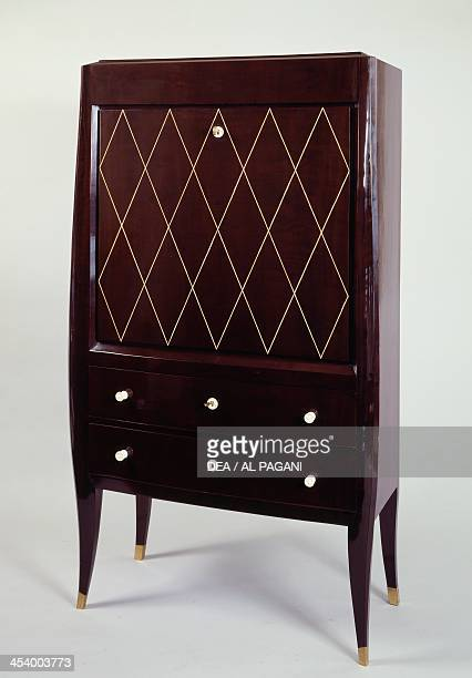Art Deco style secretary inlaid with ivory by Ruhlmann et Laurent France 20th century