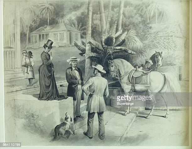 Art depicting a southern plantation at the Frederick Douglass home in Washington DC
