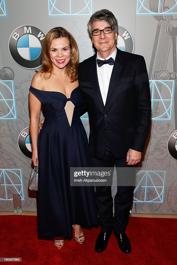 Art Director Carlos Menendez (R) and guest attend the 17th Annual Art Directors Guild Awards For Excellence In Production Design at The Beverly Hilton Hotel on February 2, 2013 in Beverly Hills, California.