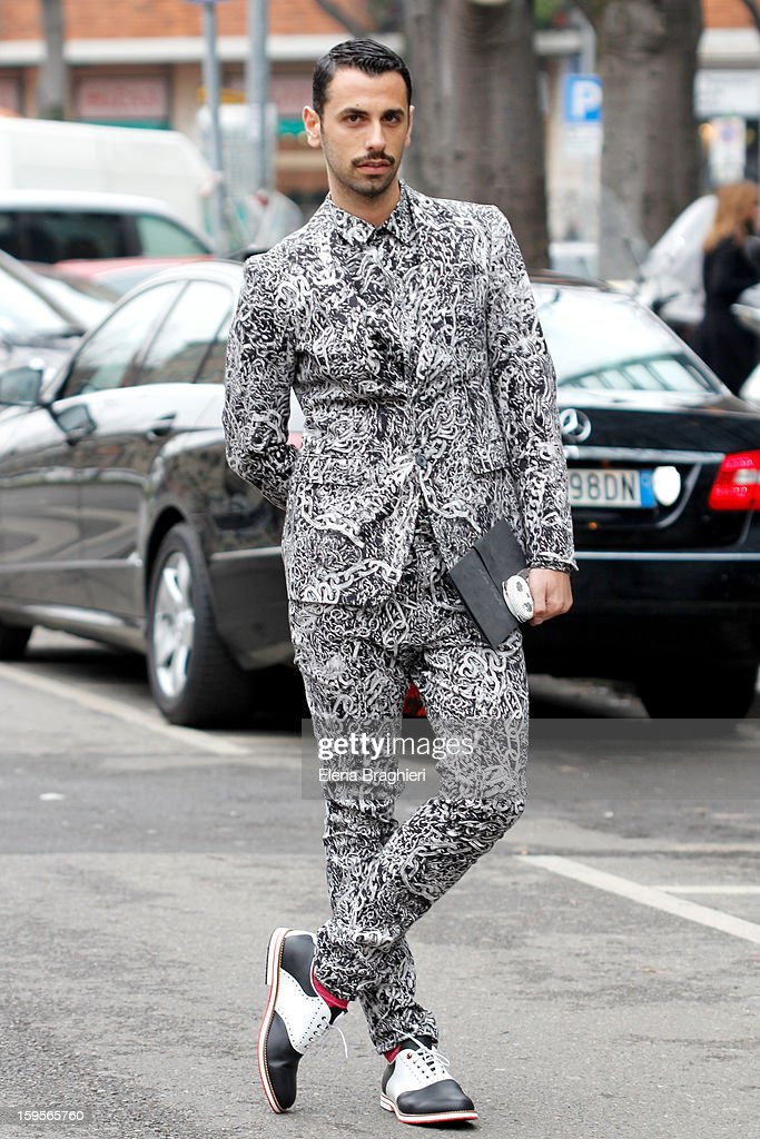 Art director Luca Finotti is seen during the Milan Fashion Week on January 15, 2013.