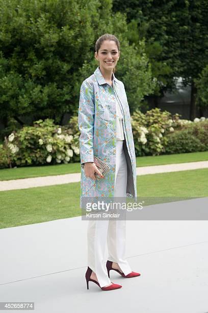 Art Director Sofia Sanchez Barrenechea day 2 of Paris Haute Couture Fashion Week Autumn/Winter 2014 on July 7 2014 in Paris France