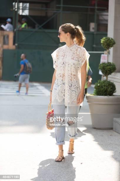 Art Director Sofia Sanchez Barrenechea on Day 1 of New York Fashion Week Spring/Summer 2015 in New York City