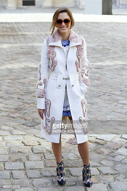 Art director Sofia Sanchez Barrenechea poses before Christian Dior 20152016 fall/winter readytowear collection fashion show on March 6 2015 in Paris...