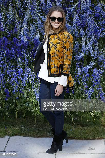 Art director Sofia Sanchez Barrenechea poses prior to the start of the Christian Dior 2016 Spring/Summer readytowear collection fashion show on...