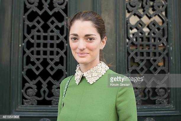 Art Director Sofia Sanchez Barrenechea wearing all Valentino on day 1 of Paris Collections Men on June 25 2014 in Paris France