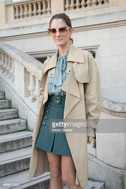 Art director Sofia Sanchez Barrenechea wears a Chloe top and skirt at the Chloe show on day 6 of Paris Collections Women on March 08 2015 in Paris...