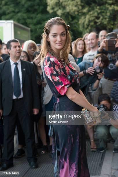 Art Director Sofia Sanchez De Betak wears Miu Miu day 1 of Paris Haute Couture Fashion Week Autumn/Winter 2017 on July 2 2017 in Paris France