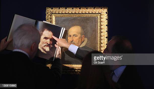 Art experts compare a newlydiscovered painting by Spanish artist Diego Rodriguez de Silva y Velazquez to a book featuring Velazquez's painting 'Jaun...