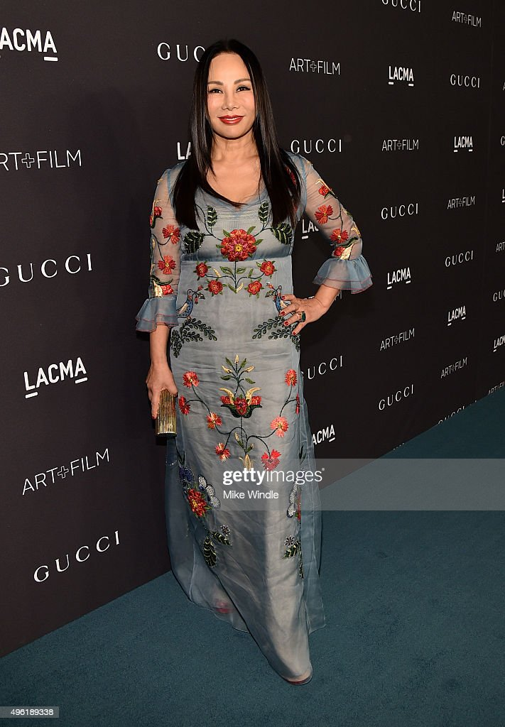 Art Film Gala co-chair and LACMA Trustee Eva Chow, wearing Gucci, attends LACMA 2015 Art+Film Gala Honoring James Turrell and Alejandro G Iñárritu, Presented by Gucci at LACMA on November 7, 2015 in Los Angeles, California.