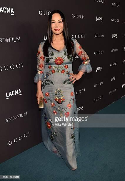 Art Film Gala cochair and LACMA Trustee Eva Chow wearing Gucci attends LACMA 2015 ArtFilm Gala Honoring James Turrell and Alejandro G Iñárritu...