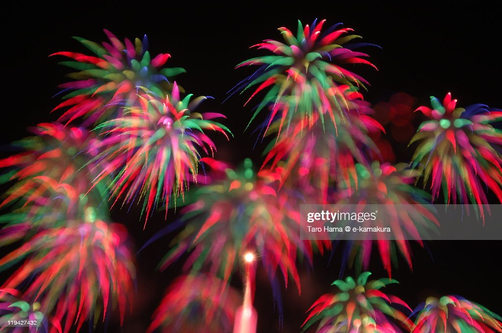 Art fireworks : Stock Photo