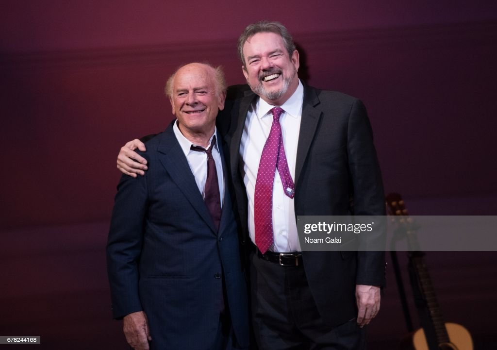Art Garfunkel and Jimmy Webb perform during a tribute concert honoring Jimmy Webb at Carnegie Hall on May 3, 2017 in New York City.