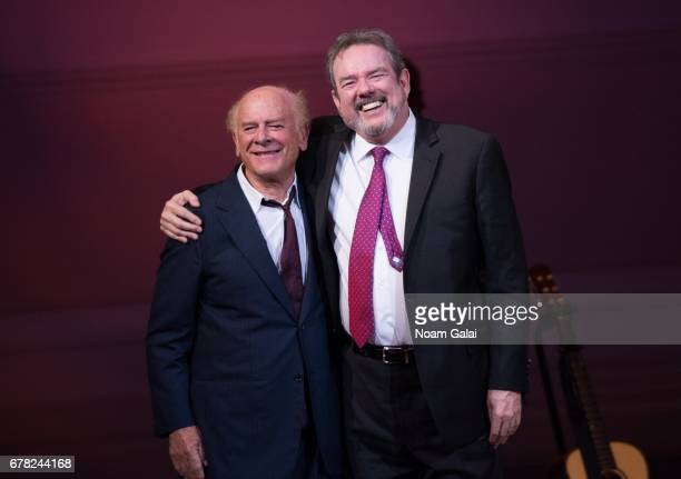 Art Garfunkel and Jimmy Webb perform during a tribute concert honoring Jimmy Webb at Carnegie Hall on May 3 2017 in New York City