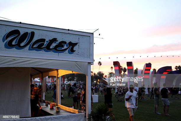 Art installation Chrono Chromatic by Aphidoidea is seen during day 1 of the 2015 Coachella Valley Music Arts Festival at the Empire Polo Club on...