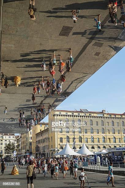 Art installation near the port of Marseille
