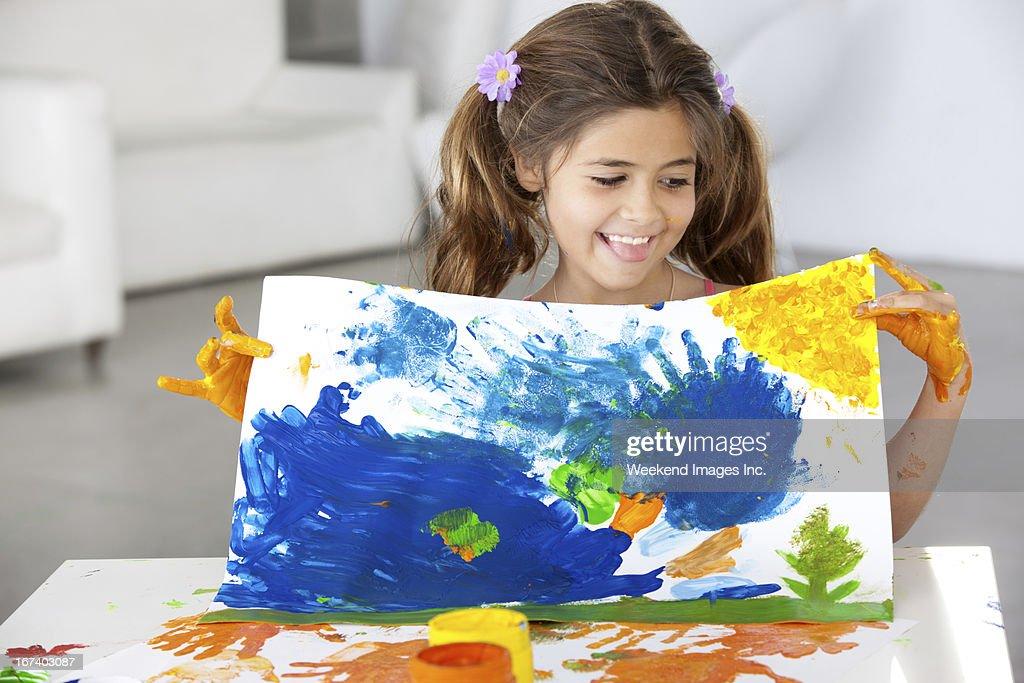 Art lesson : Stock Photo