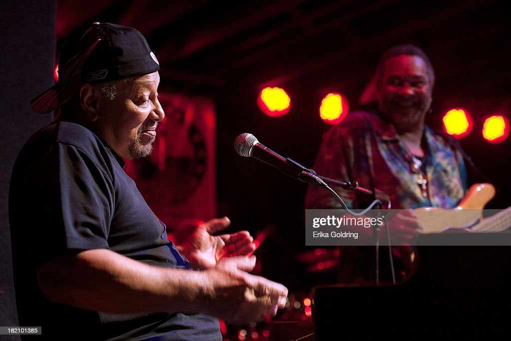 Art Neville and George Porter Jr. of The Funky Meters perform at Tipitina's on September 27, 2013 in New Orleans, Louisiana.