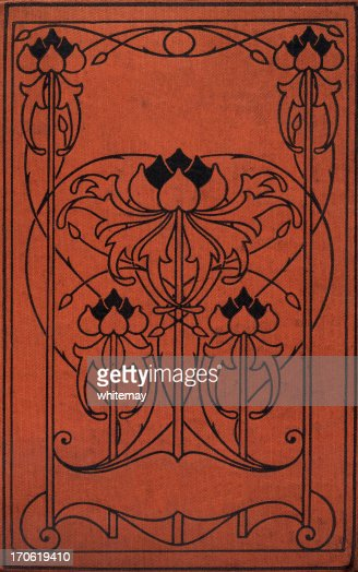 Book Cover Art Stock Images ~ Art nouveau book cover stock photo getty images