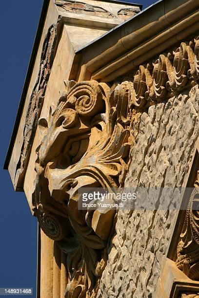 Art Nouveau detail on buiilding,