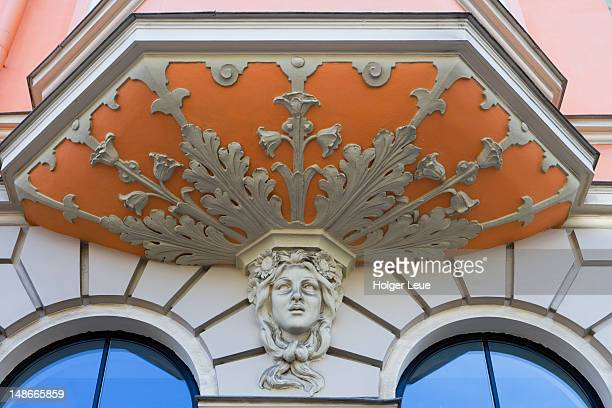 Art Nouveau detail on facade.