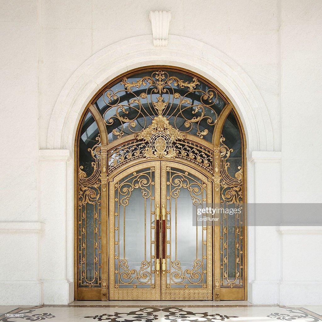 Art nouveau door : Stock Photo