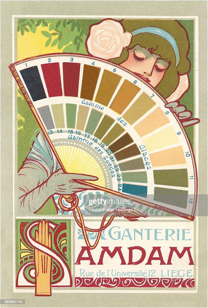 Art Nouveau Paint Chips Ganterie Samdam