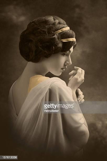 Portrait de style Art Nouveau