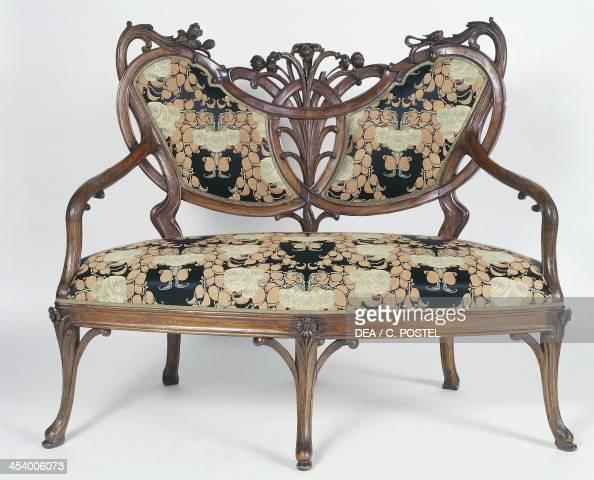 Art Nouveau Style Canape Elegant Sofa Pictures
