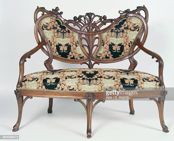Art Nouveau style canape part of a living room set 1900 Belgium 20th centuryArt Nouveau Furniture Stock Photos and Pictures   Getty Images. Art Nouveau Furniture. Home Design Ideas