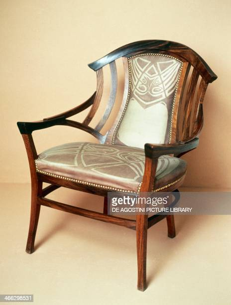 Art Nouveau style chair drawing by Henry van de Velde Brussels 1898 Belgium  19th centuryArt Nouveau Furniture Stock Photos and Pictures   Getty Images. Art Nouveau Furniture. Home Design Ideas