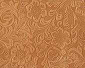 High resolution Art Nouveau style floral pattern on leather