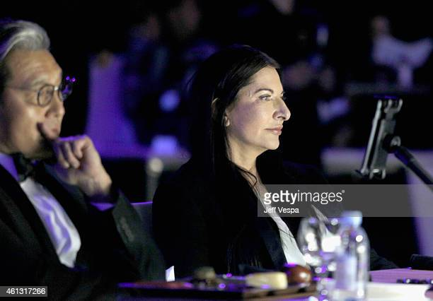 Art of Elysium Creative Visionary Marina Abramovic attends the 8th Annual HEAVEN Gala presented by Art of Elysium and Samsung Galaxy at Hangar 8 on...