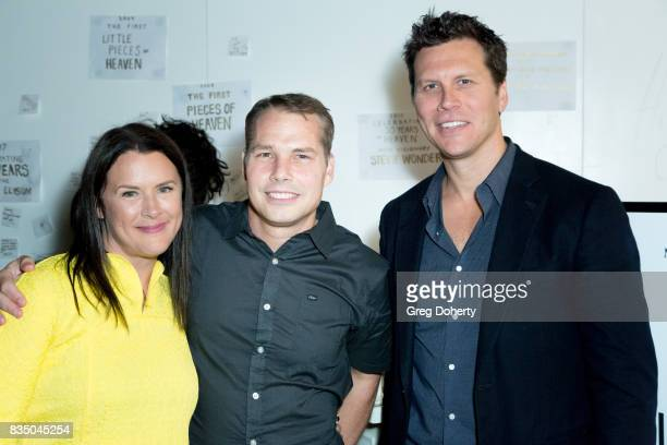 Art of Elysium Founder Jennifer Howell Artist Shepard Fairey and Actor and Comedian Hayes Macarthur attend the Art Of Elysium 20th Anniversary...