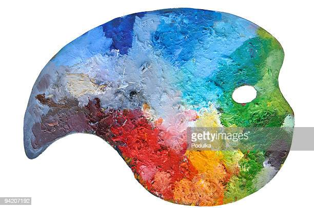 Kunst-Palette richtigen Zusammensetzung Farben