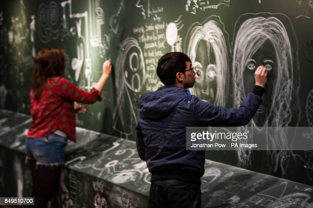 PHOTO Art students draw at York Art Gallery which has opened its doors and walls for visitors to graffiti