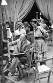Art students from the Royal College of Art paint portraits at a studio in Ambleside Lake Windermere Cumbria 3rd July 1943 Original Publication...