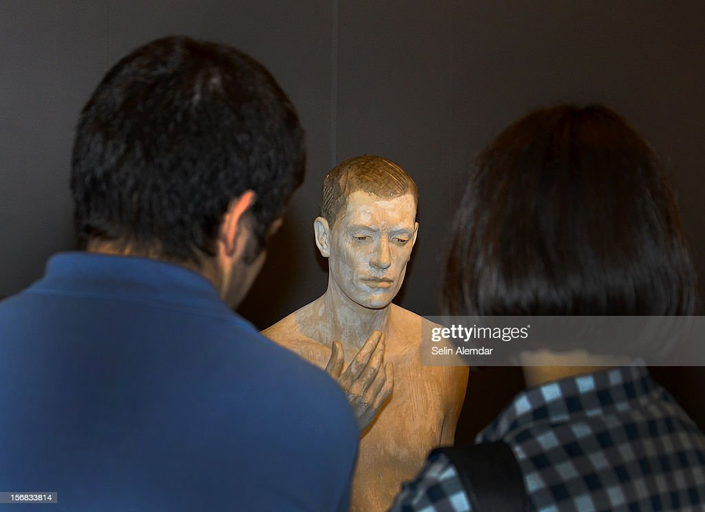Art work is displayed at Contemporary Istanbul on November 22, 2012 in Istanbul, Turkey.