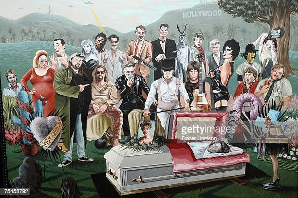 Art work on display at the opening night of 'Crazy 4 Cult' a group art show saluting classic cult movies at Gallery 1988 on July 17 2007 in Los...
